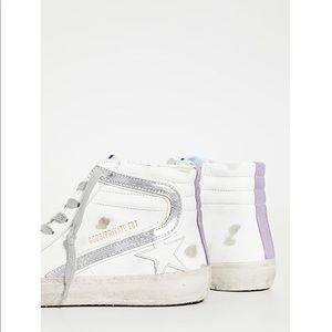 Golden goose high tops lilac stripe